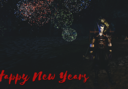 My hunter, Cadavers, in Duskwood during the 2018 NYE fireworks celebration.